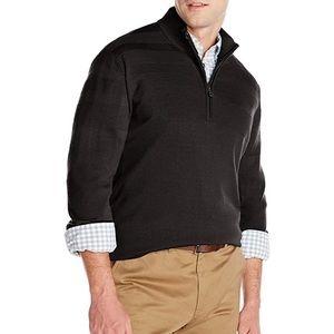 Cutter & Buck Black Douglas Quarter Zip Sweater